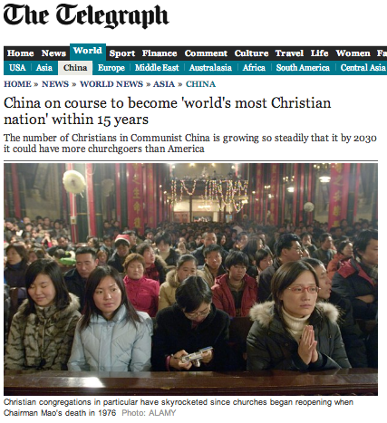 china christian nation prediction telegraph
